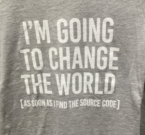 i'm going to change the world